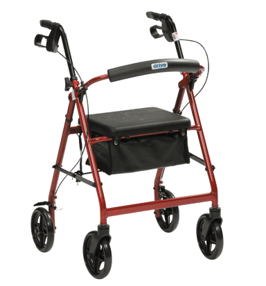 Drive - Lightweight Rollator R8 Red R8RD-59AU by Drive