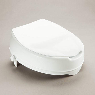 Care Quip - Prima Raised Toilet Seat 50mm with Lid AF0030 : AF0050 by Care Quip