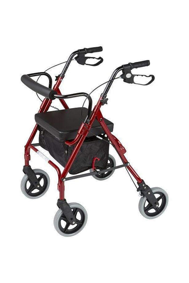 ALPHA 428 ROLLATOR Red 57025 by Quintro Health Care