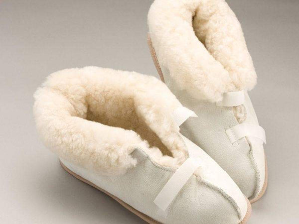 Care Quip - Sheepskin Slippers Closed Toe 3084, Breeze Mobility