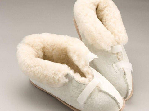 Care Quip - Sheepskin Slippers Closed Toe 3084