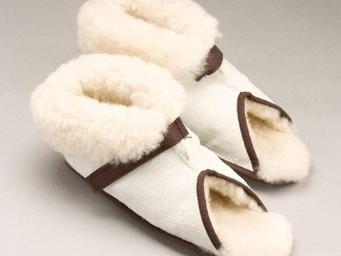 Care Quip - Sheepskin Slippers Open Toe 3083, Breeze Mobility