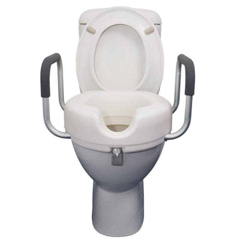 Raised Toilet Seat with Armrests 10cm SMBF1230B by SAFETY & MOB