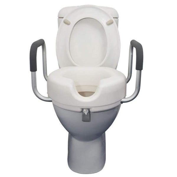 Raised Toilet Seat with Armrests 10cm-SAFETY & MOB-Breeze Mobility