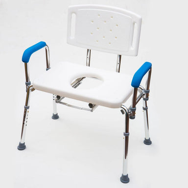 Bariatric Width & Height Adjustable Shower/Commode Chair SWL 200kg SMBF4305B by SAFETY & MOB