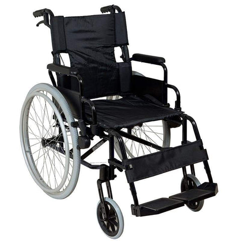 Lightweight Self-Propelled Wheelchair Black Frame-SAFETY & MOB-Breeze Mobility