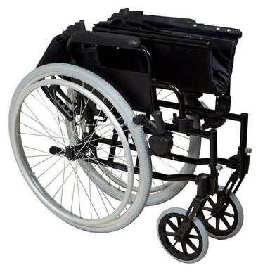 Lightweight Self-Propelled Wheelchair Black Frame SMW100 by SAFETY & MOB