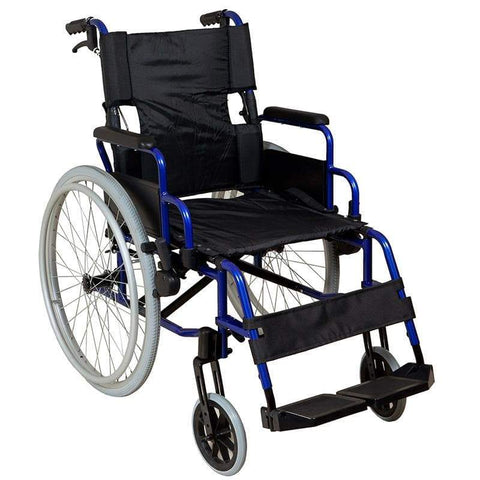 Lightweight Self-Propelled Wheelchair Blue Frame-SAFETY & MOB-Breeze Mobility