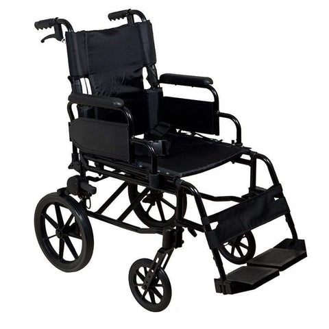 Lightweight Transit Wheelchair Black Frame-SAFETY & MOB-Breeze Mobility