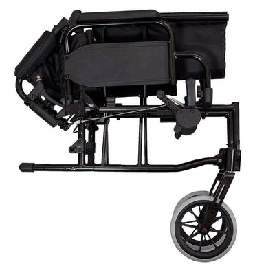 Lightweight Transit Wheelchair Black Frame SMW120 by SAFETY & MOB