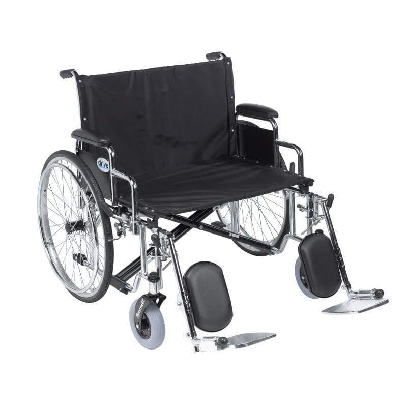 Elevating Legrests for Drive Bariatric Sentra Heavy Duty Wheelchair HDLERAU by Drive