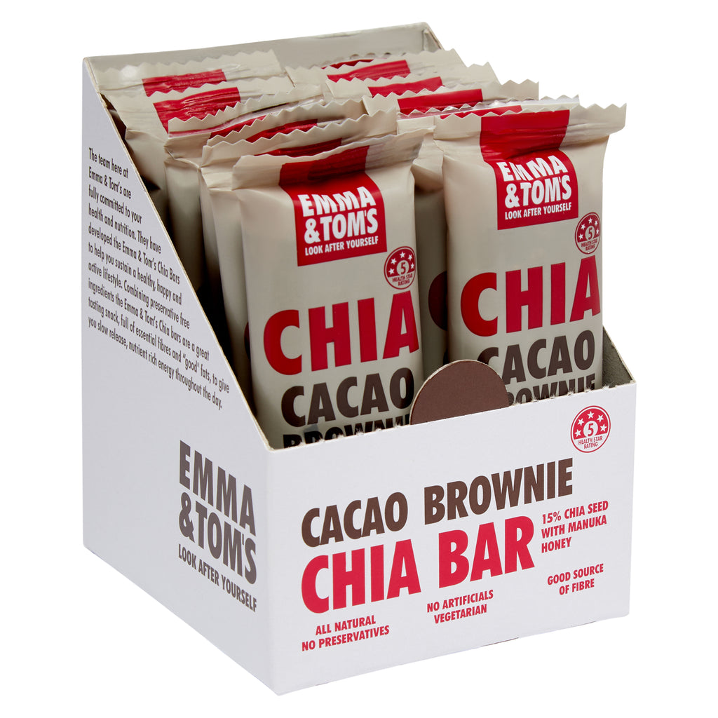 Chia Cacao Brownie Bars