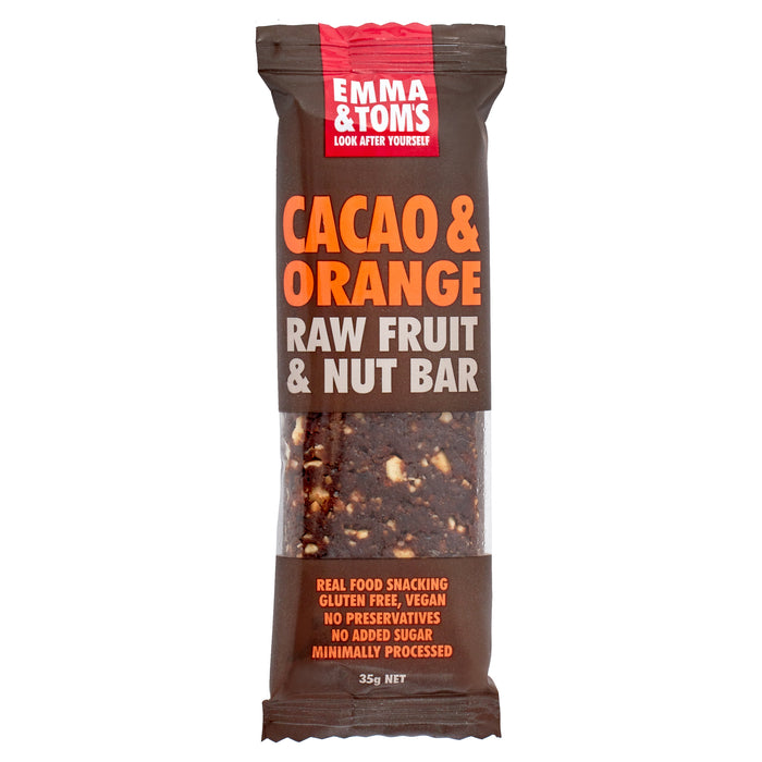 Cacao & Orange raw fruit and nut bar