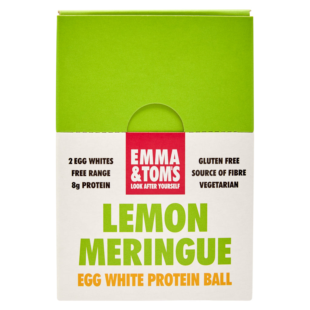 Lemon Meringue Egg White Protein Ball