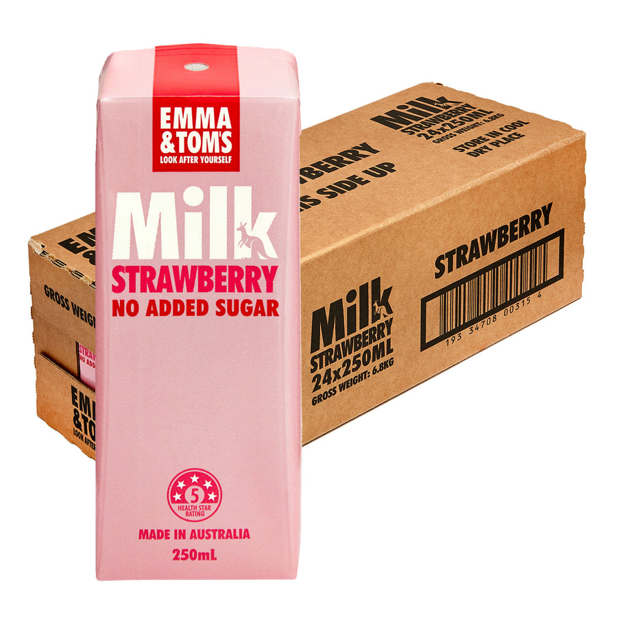 TetraPak 24 x 250ml Strawberry Milk