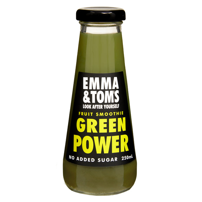 Green Power Fruit Smoothie 250ml Glass (Case of 12)
