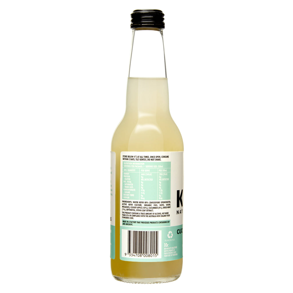 Water Kefir Cucumber, Apple & Mint (Case of 12)