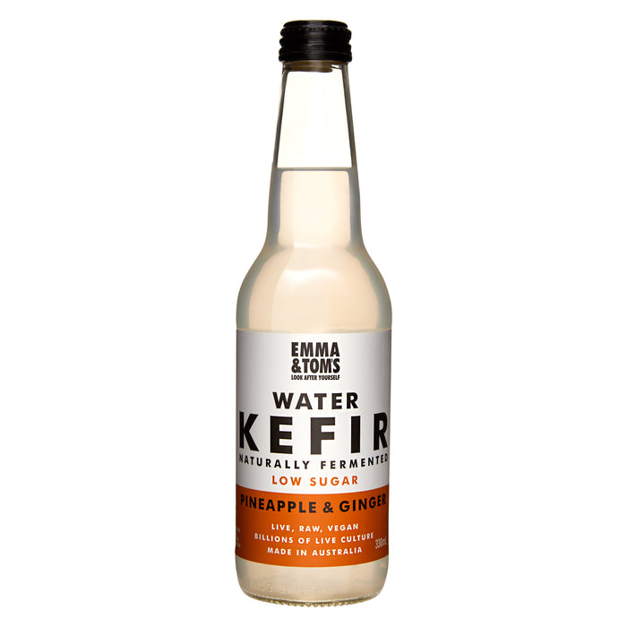 Water Kefir Pineapple and Ginger 330ml Glass