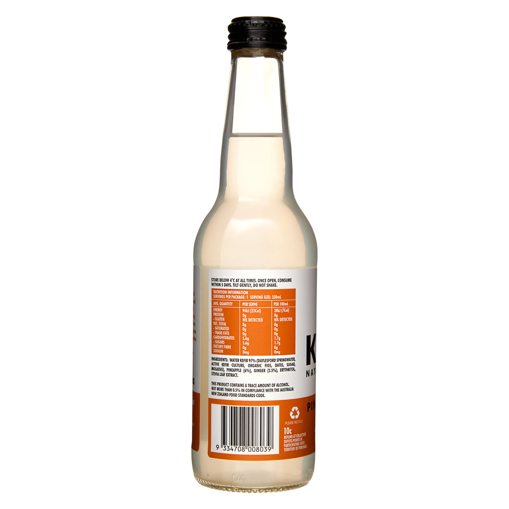 Water Kefir Pineapple & Ginger (Case of 12)
