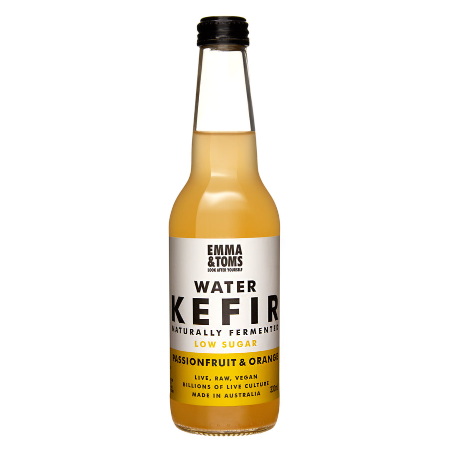 Water Kefir Passionfruit and Orange 330ml Glass