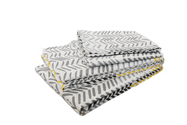 Stylish grey soft cotton bed sheet