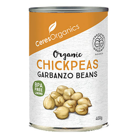 Ceres Organics Organic Chickpeas - 400g - Low Sodium Foods