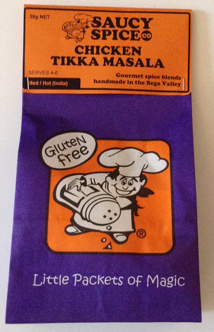 Saucy Spice Co Chicken Tikka Masala - 38g. Gluten Free - Low Sodium Foods