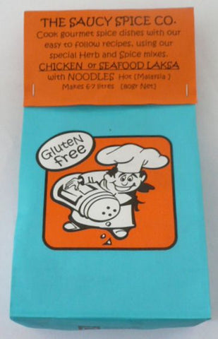 Saucy Spice Co Chicken/Seafood Laksa - 80g. Gluten Free - Low Sodium Foods