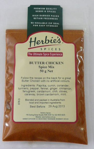 Herbie's Butter Chicken - 50g - Low Sodium Foods