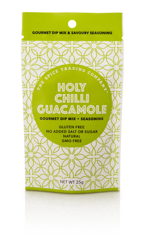 Spice Trading Co Holy Chilli Guacamole Gourmet Dip Mix - 25g - GF - Low Sodium Foods
