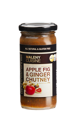 Maleny Cuisine Apple, Fig and Ginger Chutney 280g Gluten Free - Low Sodium Foods