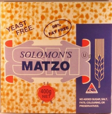 Solomon's Matzo Crackers - 400g - Low Sodium Foods