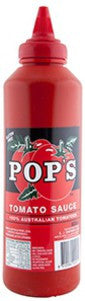 Pop's Tomato Sauce 600ml. Gluten Free - Low Sodium Foods