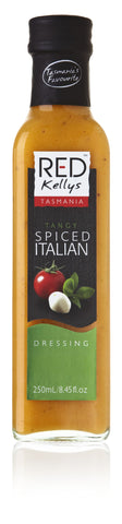Red Kellys Spiced Tangy Italian Dressing - 250ml. Gluten Free - Low Sodium Foods