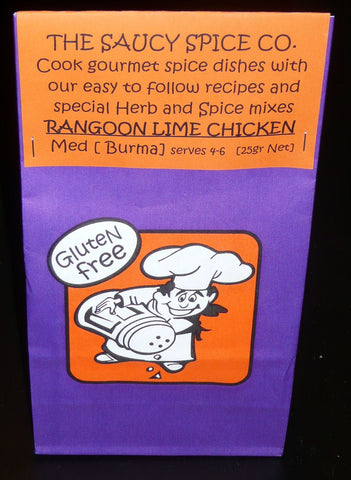 Saucy Spice Co Rangoon Lime Chicken - 25g. Gluten Free - Low Sodium Foods