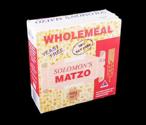 Solomon's Wholemeal Matzo - 400 g - Low Sodium Foods