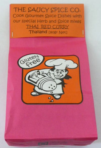 Saucy Spice Co Thai Red Curry - 80g. Gluten Free - Low Sodium Foods