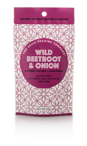 Spice Trading Co Wild Beetroot and Onion Gourmet Dip Mix -26g - GF - Low Sodium Foods