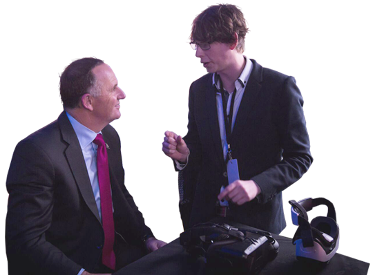 John Key shown VR in oculus