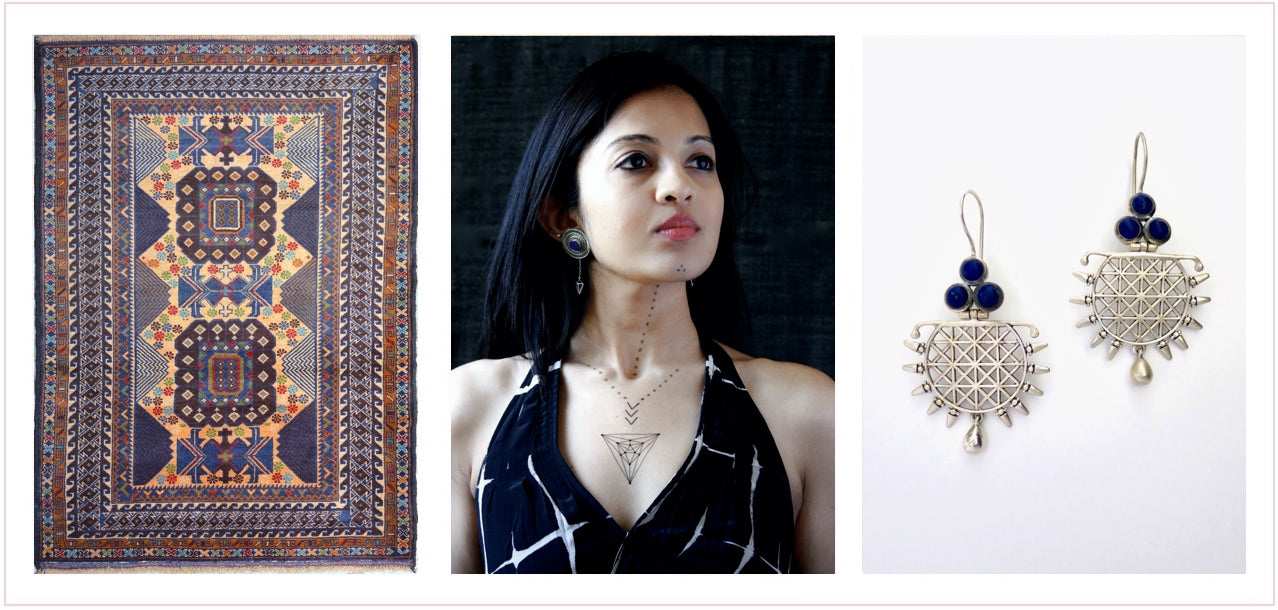 Lapis Lazuli Nilaj(a) collection header. Sterling silver and gemstone jewelry by Lai