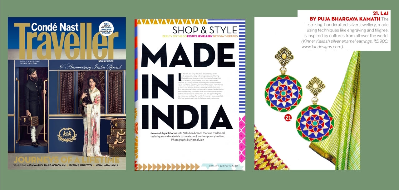 conde Nast traveller India. Made in India. Lai press 2015