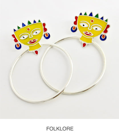 folklore, a collection of contemporary sterling silver jewelry inspired by folk art motifs
