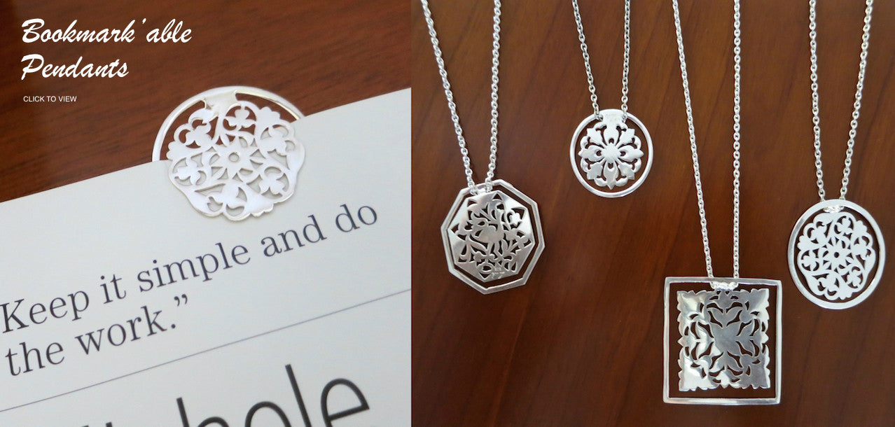 Bookmark'able pendants