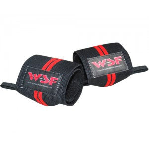 WSF Double Red Line Wrist Wraps 10""