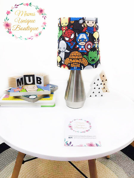 Black Marvel Avengers Kawaii Touch Lamp Switch Lamp Night Light Table Lamp