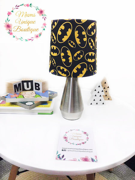 Black Batman Symbol Touch Lamp Switch Lamp Night Light Table Lamp
