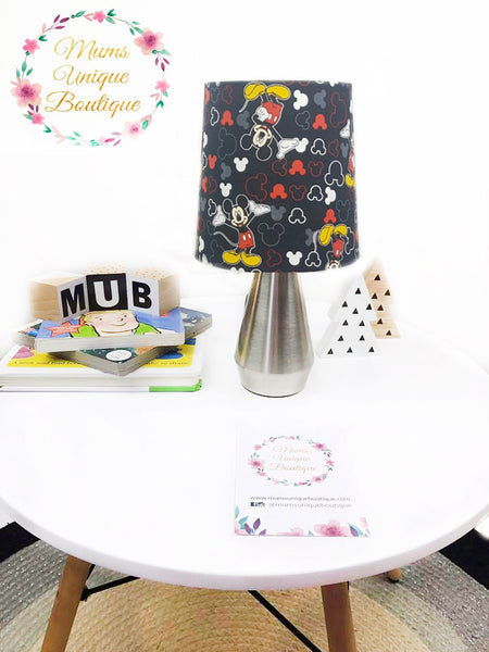Black Mickey Mouse Touch Lamp Switch Lamp Night Light Table Lamp