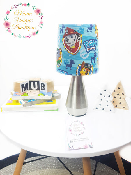 Light Blue Paw Patrol Team Touch Lamp Switch Lamp Night Light Table Lamp