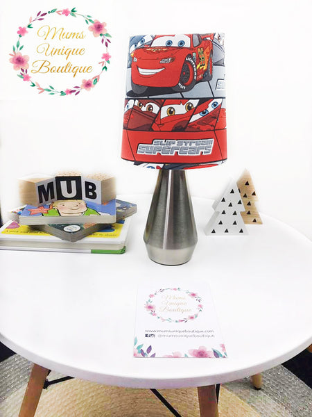 Cars Lightning Mcqueen Touch Lamp Switch Lamp Night Light Table Lamp