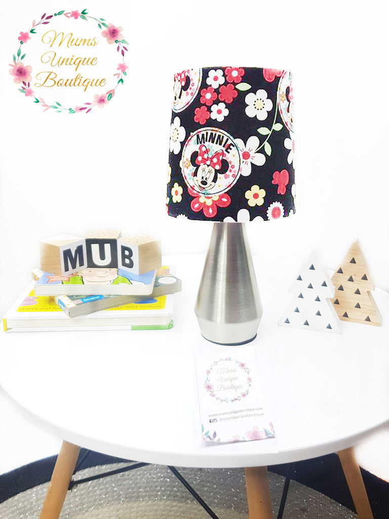 Minnie mouse black floral touch lamp switch lamp night light table minnie mouse black floral touch lamp switch lamp night light table lamp geotapseo Gallery